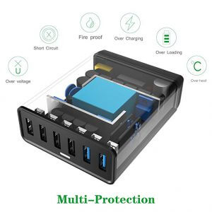 Choetech 50W 6-Port Desktop USB Charger internals